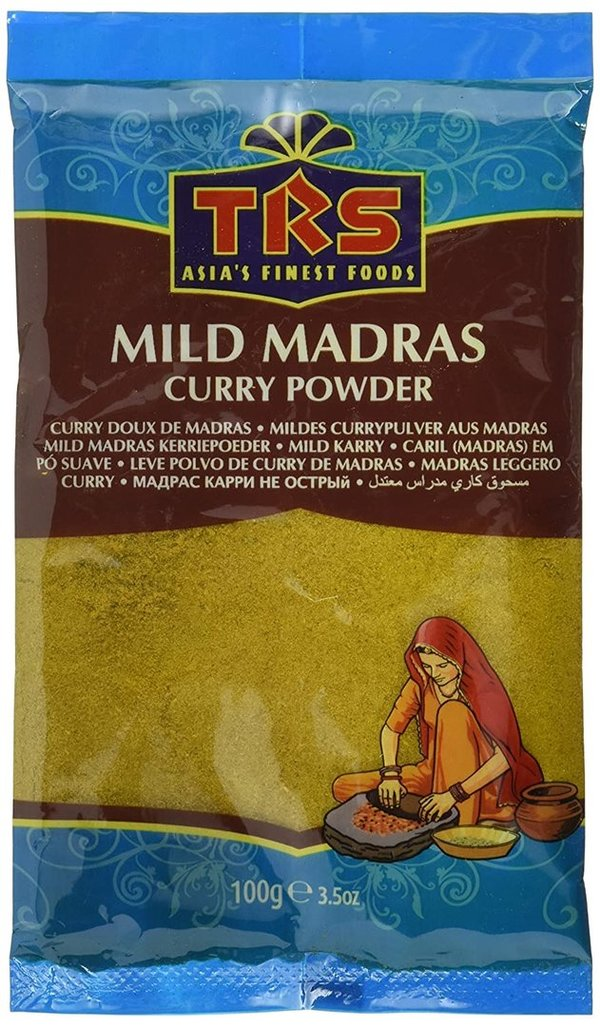TRS Mild Madras Curry Powder - mildes Currypulver aus Madras, 100g