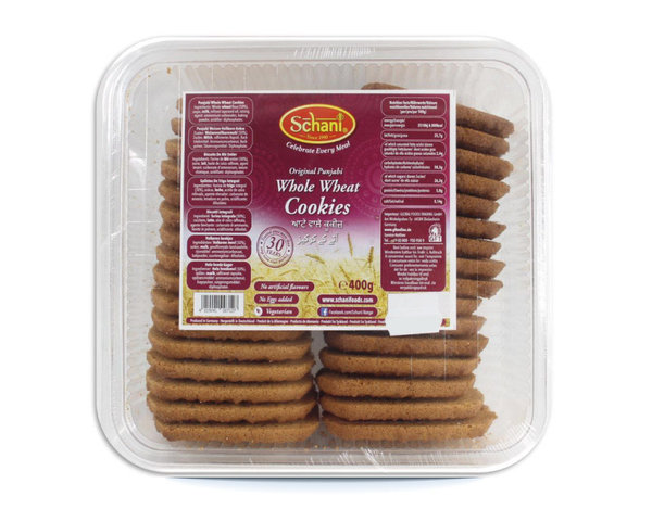 Original Punjabi Whole Wheat Cookies - Punjabi Vollkornweizen-Kekse, 400g