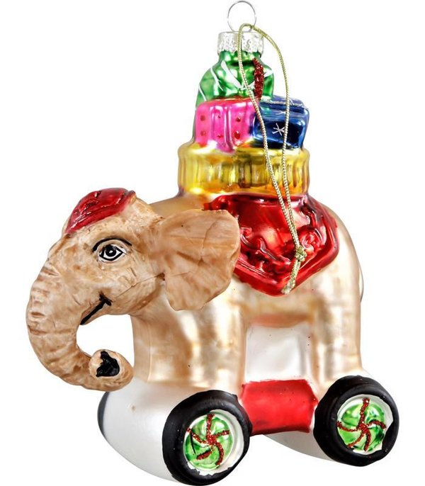 "Glasdekorkugel ""Magic Elephant"", Weihnachtskugeln"