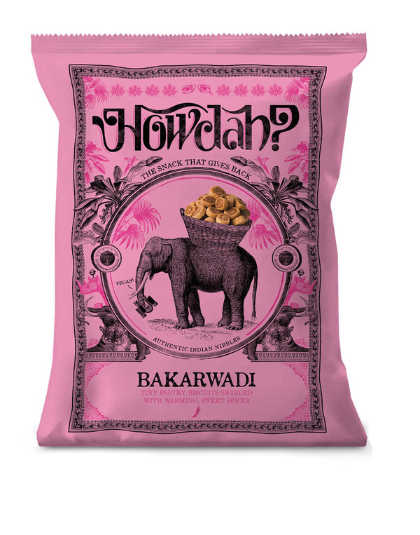 Howdah? Bakarwadi - Authentic Indian Nibbles, 150g