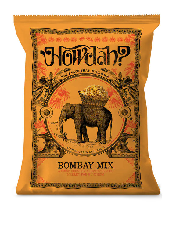 Howdah? Bombay Mix - Authentic Indian Nibbles, 150g