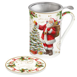 MAGIC CHRISTMAS Teebecher mit Sieb & Deckel 350 ml in Giftbox